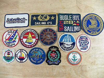 Lot of 14 Vintage & Modern Sailing Patches - Yacht and Boating