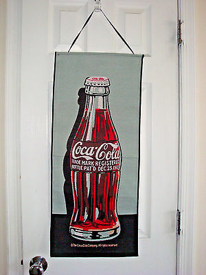 Coca Cola Bottle Wall Hanging Tapestry Like Cloth Advertisement Vintage