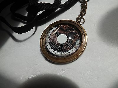 Full Face Glass Cabochon Pendant or Keychain or Pocket Sundial watch