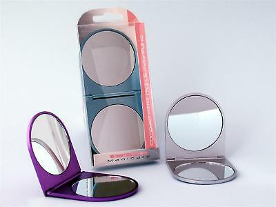 Sure Manicure Compact Make-Up Mirror - Plain & Magnifying (Colours May Vary)