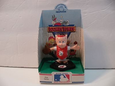 Looney Tunes Porky Pig MLB Cleveland Indians Baseball Figure Applause