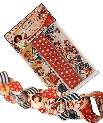 Bethany Lowe Americana 4th of July Paper Chain Kit LG2579 New