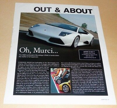 Lamborghini Murcielago Lp 640 Article -2008