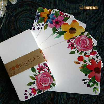 50 Sheets Flower Colourful Hard DIY Blank Post Thick Card Double Sketch Doodle