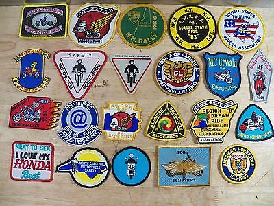 Lot of 21 Assorted Vintage and Modern Motorcycle Patches w/ 1 Sticker
