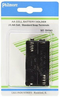 """Philmore Battery Holder for 4 """"AA"""" Cells with Snap Connector : BH343 (1)"""