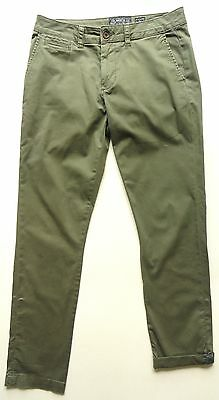 American Rag pre-owned Green Slim Fit Stretch Chino Pants sz- 30 x 32