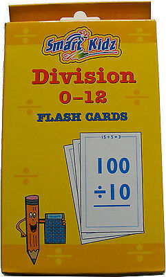 Early Learning Revision Educational Flash Cards - Simple Maths - Division