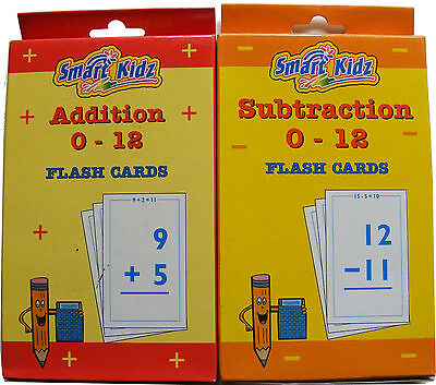 Early Learning Revision Educational Maths Flash Cards - Addition & Subtraction