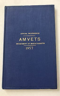 Mint 1957 Amvets Annual Proceedings Book