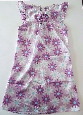 CARTER'S Girls Silky NIGHTGOWN Size Small 4/5 Purple Flowers