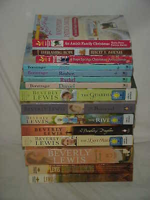 AMISH - Amish fiction by Beverly Lewis and others - lot of 16 - FREE SHIPPING