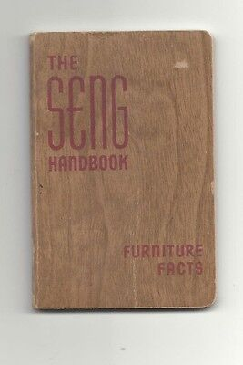 "1939 ""seng Company"" Made In Usa  Furniture Facts Pocket Size Handbook"