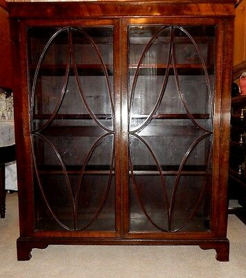 Antique Edwardian Large Astragal Glazed Mahogany Bookcase