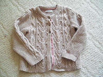 MINI BODEN BABY girl's * NATURAL CABLE CARDIGAN SWEATER * sz. 18 24 mo.