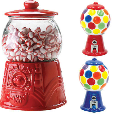 NEW (Set) Gumball Machine 84 Ounce Ceramic Cookie Jar And Salt & Pepper Shakers