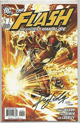 The Flash The Fastest Man Alive #1 DF Signed By Ken Lashley. Very Rare 523/1000
