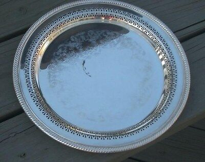 Antique Silver Wm Rogers Chafing Serving Tray Platter