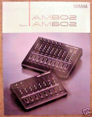 Yamaha Full Color Mixer Brochures for AM802 and AM602 Compact Mixers