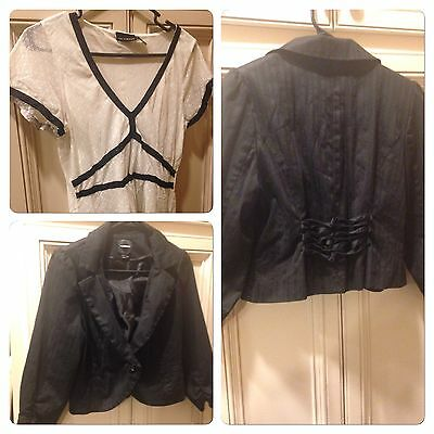 Gothic Lolita Business Attire. Shirt, Jacket. Goth, Punk, Corset, Office, Lot