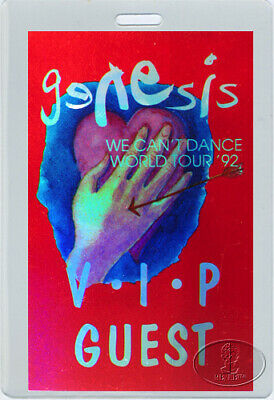 GENESIS 1992 VIP LAMINATED BACKSTAGE PASS Phil Collins