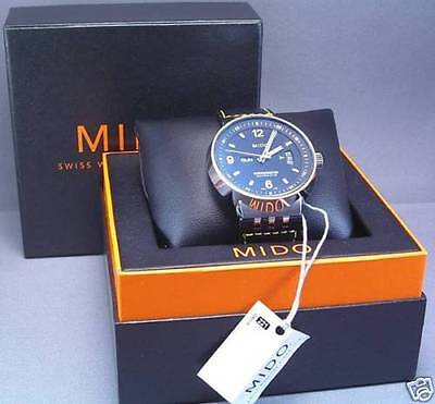 MIDO Chronometer Watch - ref# M8341.4.F8.41 BOX, Papers, 2007 - New Old Stock
