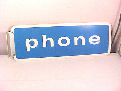 "Vintage ""Phone"" Sign w/Bracket"