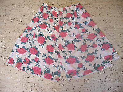 Pretty Vintage Polycotton Floral Shorts From Young At C & A