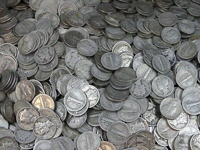 90% Silver Mercury Dimes - Fresh From Pile!! (50 Coins) - $5 Face Value