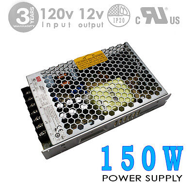 150W 12V 12.5A DC UL Indoor Power Supply/Adapter MEAN WELL-LRS (#2853)