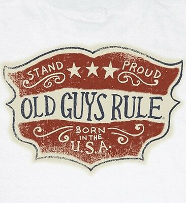 "Old Guys Rule "" Stand Proud "" "" Born In The Usa "" W/ Pocket S/s Size M"