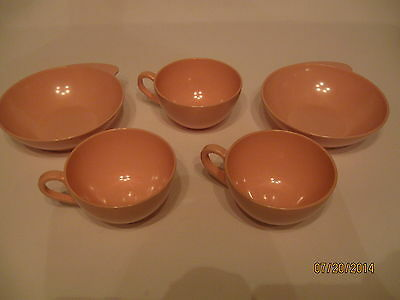 Small Lot Of Vintage Melamine Pink Boonton Ware (unmarked)