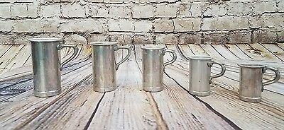 Jenzo Measuring Cups Aluminum? Made in Italy Handles Set of 5 Vintage