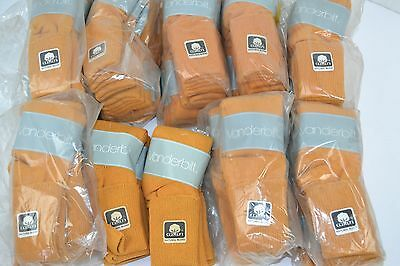 Vtg 80's Lot of 60 Pairs VANDERBILT SPRINGFOOT Mustard Yellow 9-11 Cuffed Socks