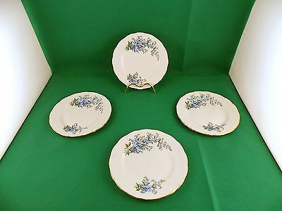 Queen Anne Forget Me Not Side Plates x 4