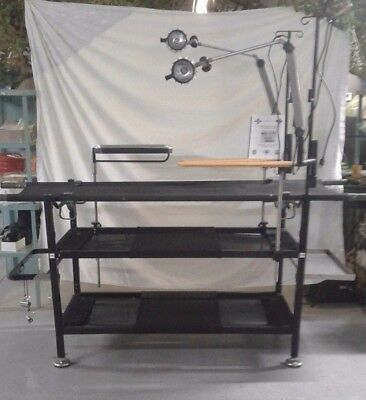 NEW US Military Portable Field Operating Table With Lights, Manual and Case