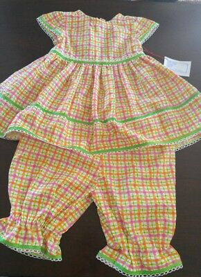 Handmade  Baby Girls Dress & Bloomers with ~12 -24mths