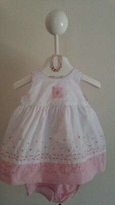 Baby Girls Carter's Pink Flora Rosebud Dress and Bloomers 3-6 Months