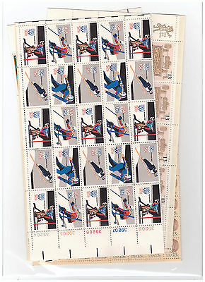 Us $40.00 Face Mint/nh Postage Lot Of 13¢ - 15¢ Folded Sheets