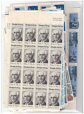 Us $43.00 Face Mint/nh Postage Lot Of Mostly 10¢ - 15¢ Folded Sheets