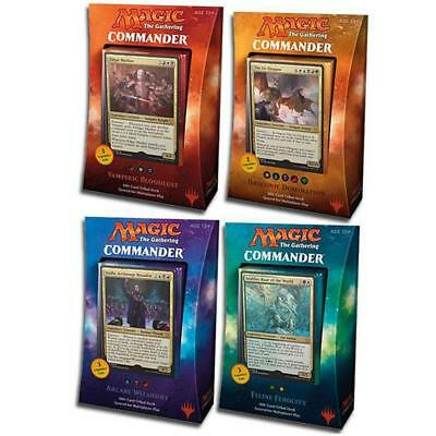 Magic The Gathering Commander 2017 All Deck Bundle Box