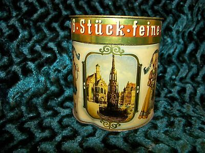 Old German Hutner Lebkuchen Tin