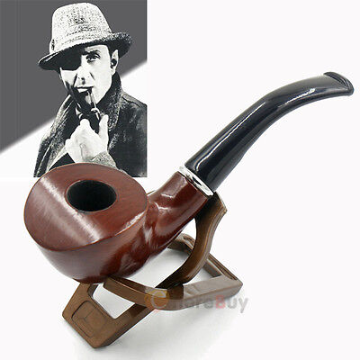 Durable Smoking Pipe Tobacco Cigarettes Cigar Pipes Filter Ebony Wooden Gift Men