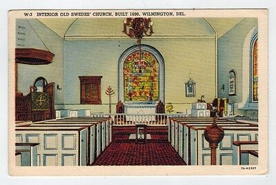 Interior Old Swedes' Church, Built 1698, Wilmington, Del. 1939