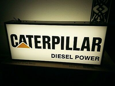 caterpillar lighted sign double sided