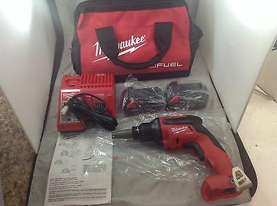NEW - Milwaukee 2866-20 M18 FUEL Drywall Screw Gun + TWO BATTERIES & CHARGER