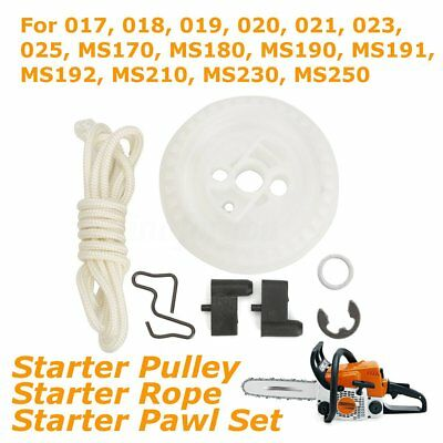 Recoil Starter Rope Pulley & Pawl Fits For STIHL 021 023 025 MS210 MS230 MS250