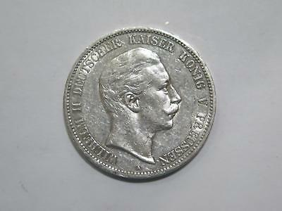1907 A Germany 5 Funf Mark Deutsches Reich Silver Coin Old World Collection Lot
