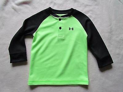 NWOT Under Armour Boys Colorblock Waffle Henley Long Sleeves T Shirt Sz. 18 Mos