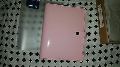NEW Filofax Original A5 Patent Rose Pink Planner Organizer Any Year leather